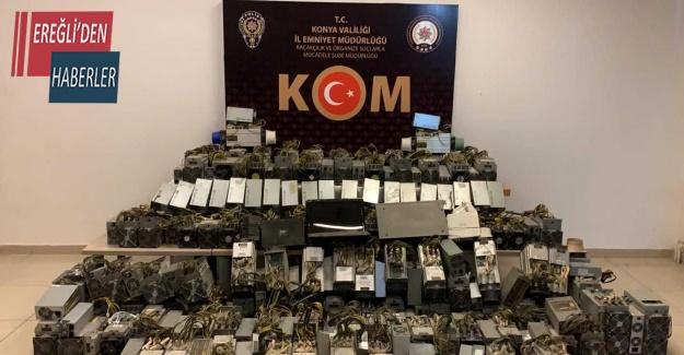 Konya'da kripto para operasyonu: 1 gözaltı