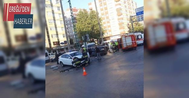 Konya'da otomobiller çarpıştı: 1 ölü, 2 yaralı