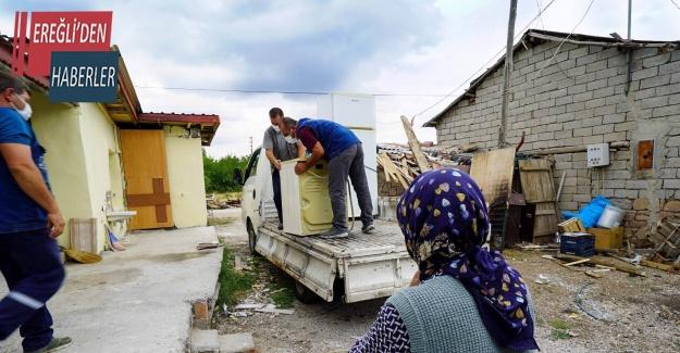Meram'da ikinci el eşyalar ihtiyaç sahiplerine umut oluyor