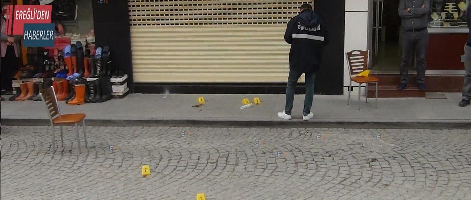 Ereğli'de bir kişi vuruldu