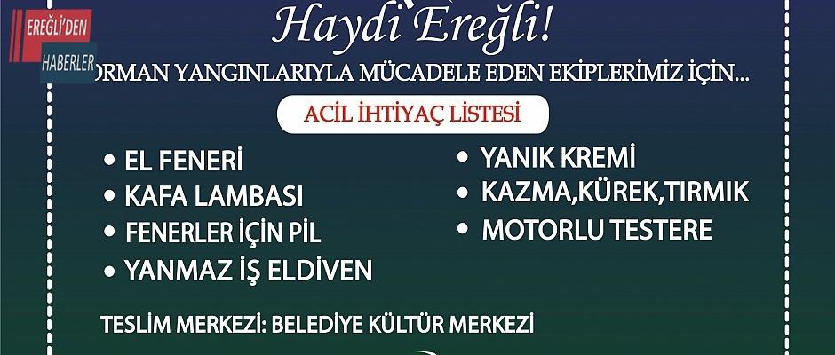 Eregli Belediyesinden büyük  yardım kampanyası