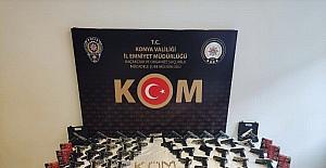 Konya'da araçtan 73 adet tabanca çıktı