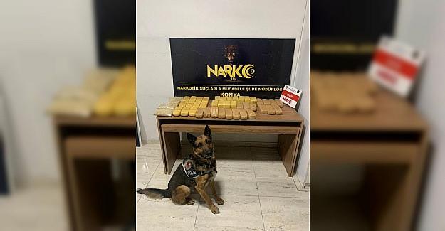 Konya'da 23 kilo eroinle yakalanan 2 şüpheli tutuklandı