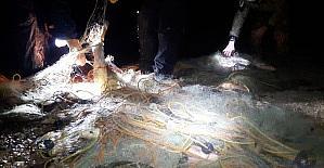 Konya'da baraj gölünde yasa dışı av denetimleri