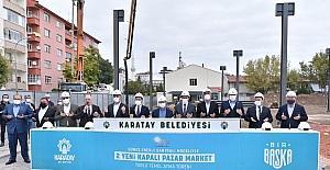 Karatay Belediyesinden GES projeli pazar marketlerin temeli atıldı