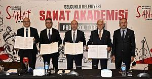 Selçuklu Sanat Akademisi'nin protokolü imzalandı